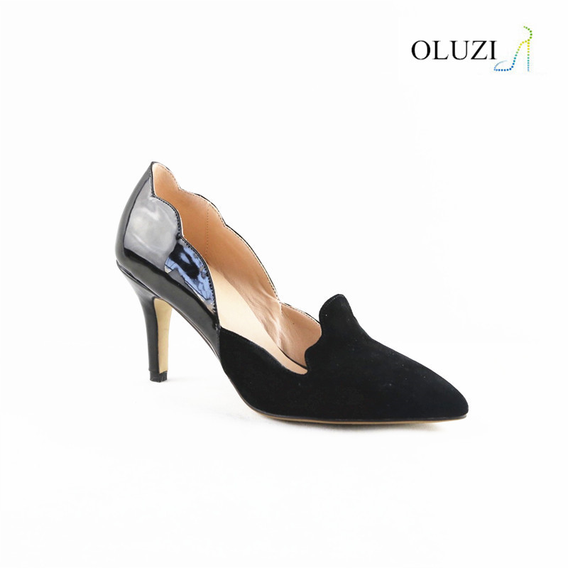 OLNP001 Best Price Thin High Heels Black Ladies Fancy Wholesale Shoes