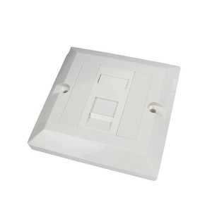 Best Price 86 Type Plate For Internet Connection Network 1 Ports Face Plate
