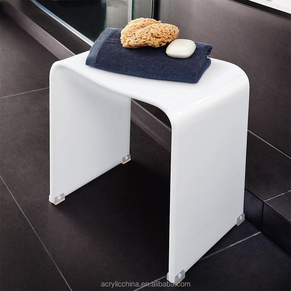 Acrylique meubles de maison tabouret de douche en acrylique ...