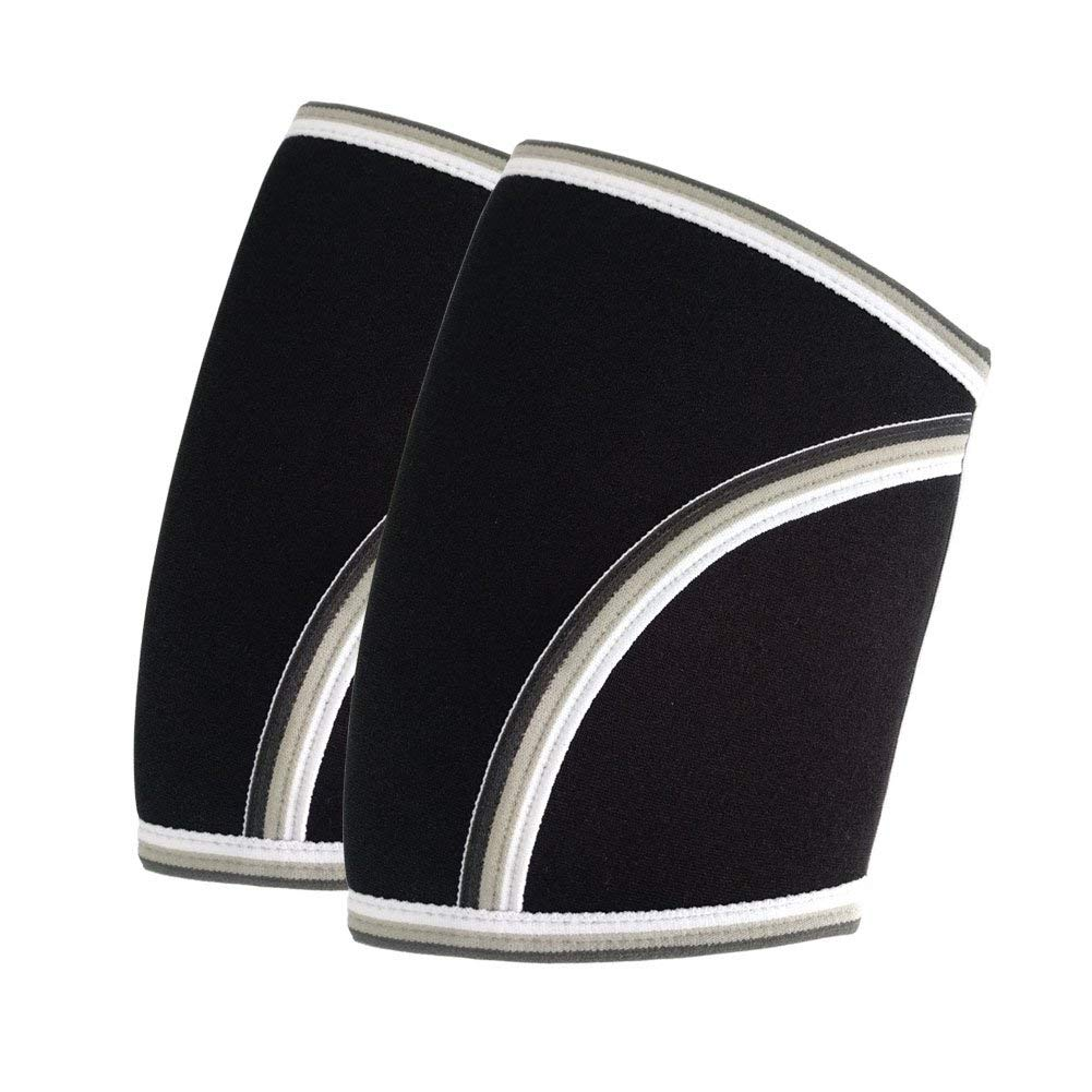 0ba8c474db Get Quotations · Elbow Sleeves (1 pair) - Compression & Support For  Weightlifting,Powerlifting,Tennis