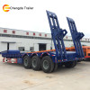 specially designed caterpillar track and wheel type machinery transporting semi trailer