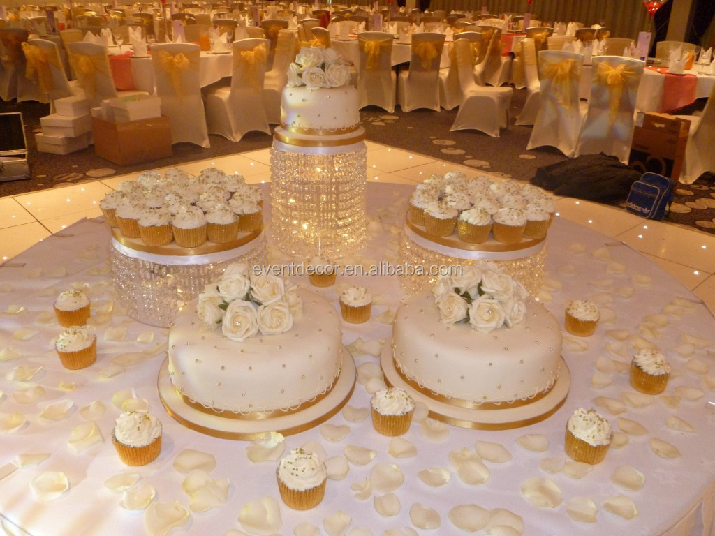 Trade Cake Stands : Best selling acrylic crystal wedding cake stands lighted
