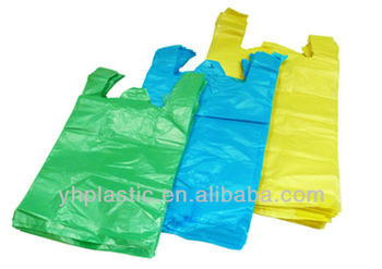 Hdpe/ldpe T-shirt Plastic Bag For Shopping And Grocery