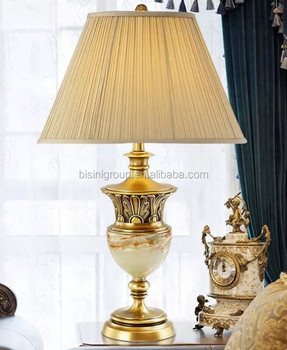 Awesome Retro Vintage Spanish Style Decorative Brass Alabaster Table Lamp With  Shade BF11 10283f