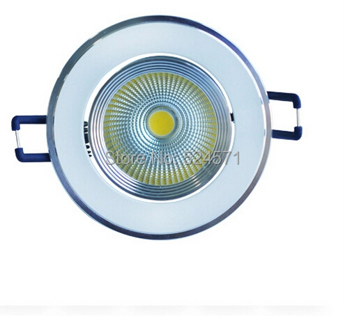 Wholesale 50pcs/lot High quality Dimmable Led downlights 10w LED COB Ceiling lamp LED Down Light free shipping