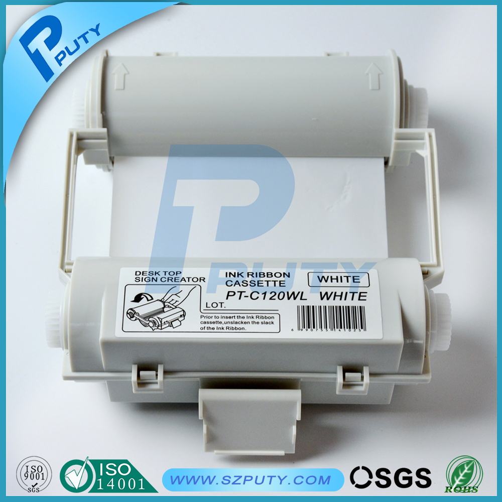 Wholesale high-quality compatible C120W 120mm White ink ribbons for MAX bepop PM-100A CPM-100 series label maker
