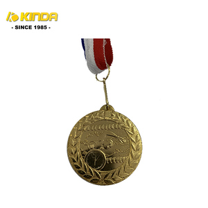 Blue White Red Color Ribbon Belt Custom Or Wholesale Celebration Souvenir Sports Meeting Medals Blank Alloy Metal