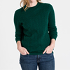 Women's Cashmere Long Sleeve O Neck Pullover Sweater Jumper