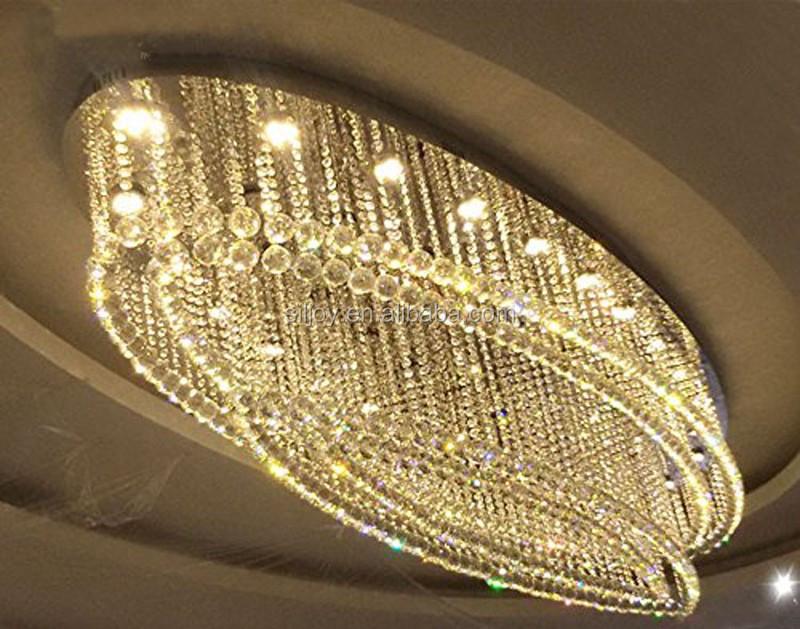 moderno oval gota de lluvia k araa de cristal lmpara de techo accesorio de iluminacin