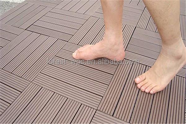 Decking di wpc pavimento di legno composito piastrelle prezzi