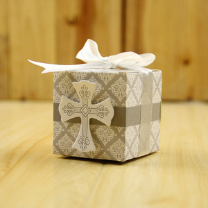 50pcs Cross Design Wedding Favor Box Candy Boxes For Baby Shower Wedding Souvenir For Guests