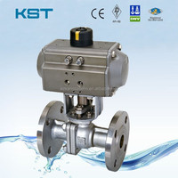 2pc Pneumatic Ball Valve,Reduced Port Ball Valve,Air Torque ...