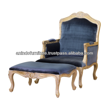 Chaise lounge with carved with ottoman buy mahogany for Carved chaise lounge