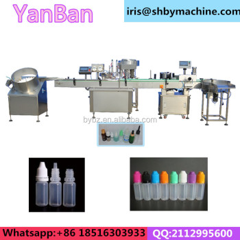 10ml 30ml 50ml e cig e liquid bottle filling machine capping and labeling machine