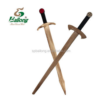 Professional factory SINCE 1989 custom logo wooden pirate sword