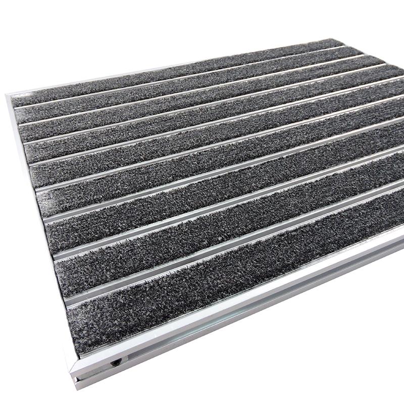 Легкая установка прочная структура коммерческий Алюминиевый металлический коврик для двери