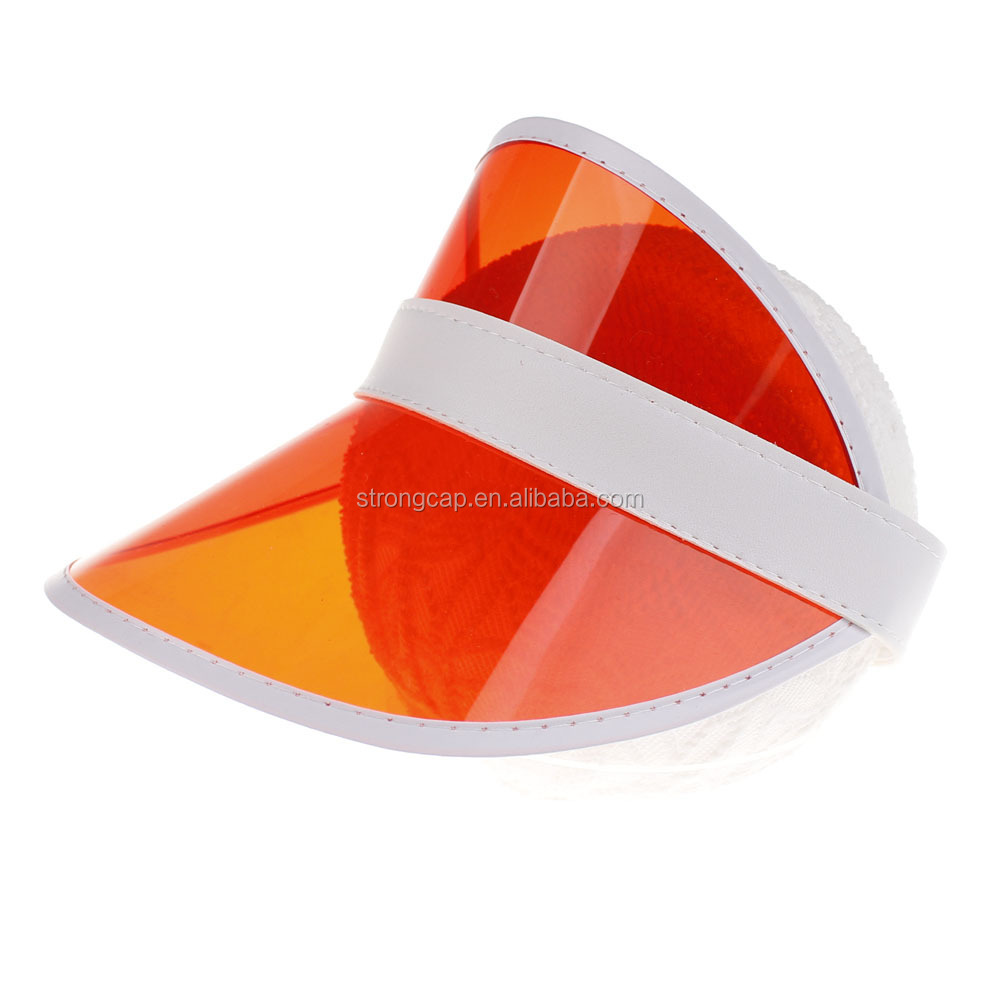2019 unisex hats Cheap Customized Plastic Sun Visor Hat,PVC plastic sun visor for UV protection outdoor colorful sun visor hat