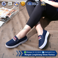 Stylish sport footwear wholesale running flat canvas shoes for women 2017