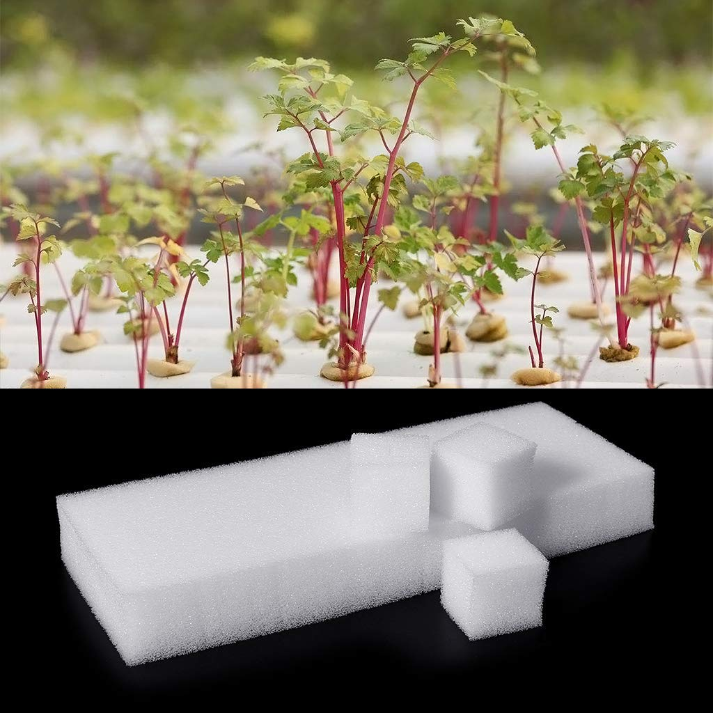 96Pcs 1'' Cubes Sponge For Hydroponic Seed Start Grow Plant Net Pot Cup Basket Hydroponics & Seed Starting