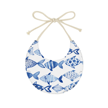 Boy Blue Fish Bibs Baby Drool Bibs Products 2019 Trending