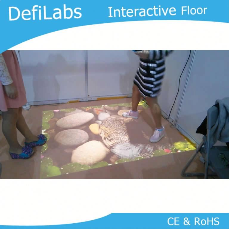 All in one Interactive floor / wall projection work with Casio LED projector 3000 lumen with 30,000 hours lifetime lamp