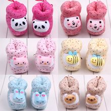 Lovely Winter Warm Baby Shoes Cotton Padded Infant Toddler Baby Boys Girls Boots Soft Newborn Bebe First Walkers Cotton Shoes