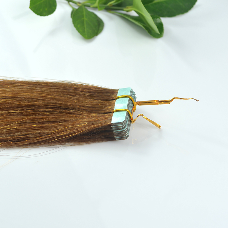 Grade AAAAA #6 18''/22'' 20/40Pcs Ash Brown Tape Hair Extensions Human Brazilian Remy 100% Hair Skin Weft Hair Bestselling