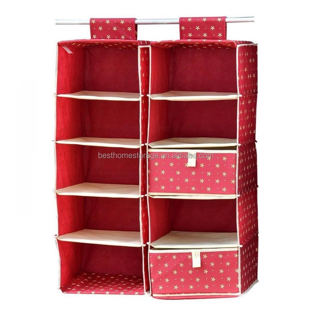 Factory Supply Foldable Hanging Closet Organizer Storage Shelf With Drawer Buy Closet Organizer Hanging Closet Organizer Storage Shelf Product On Alibaba Com