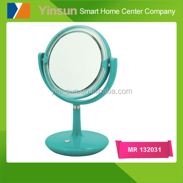 Colorful double sides table make up mirror