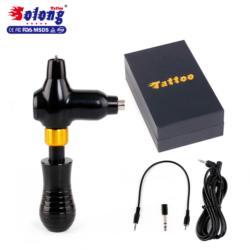 Solong 4.5 w Taiwan Motor Rotary Air Craft Alu CNC Tattoo Michine Body Art Permanente Make Rotary Tattoo Machine Gun