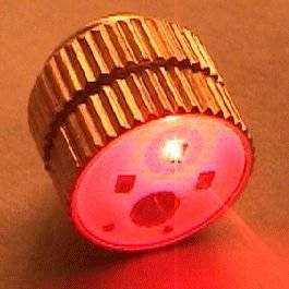 Red Red Clip On Earring Clasp Flashing Body Light Lapel Pins by Blinkee