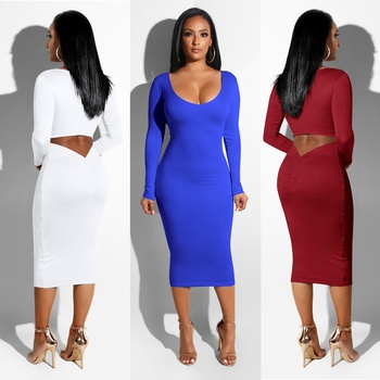 2018 Latest Dress Designs Sexy Fashion v-neck Party Women Dresses