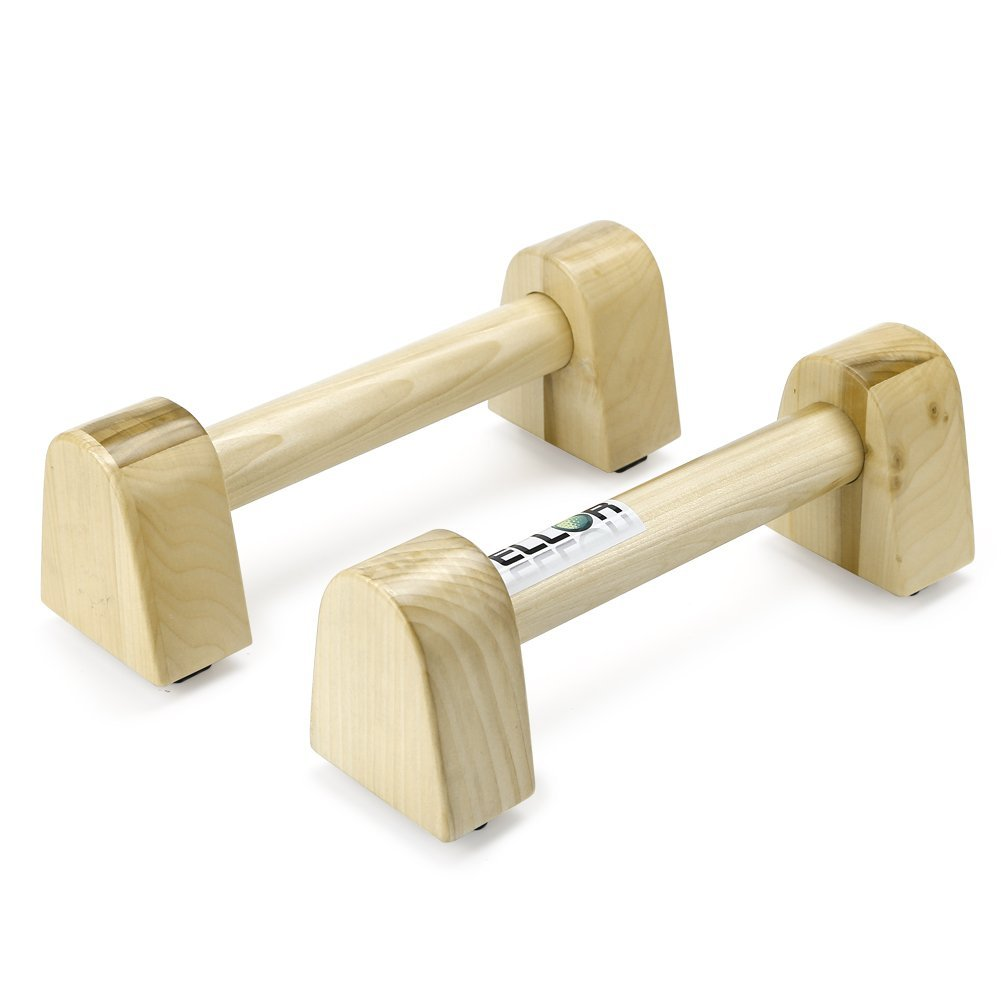 PELLOR I-shaped Antiskid Push-ups Bar Wooden Press-up Support Stand Indoor and Outdoor Arm Chest Muscle Training Fitness Equipment