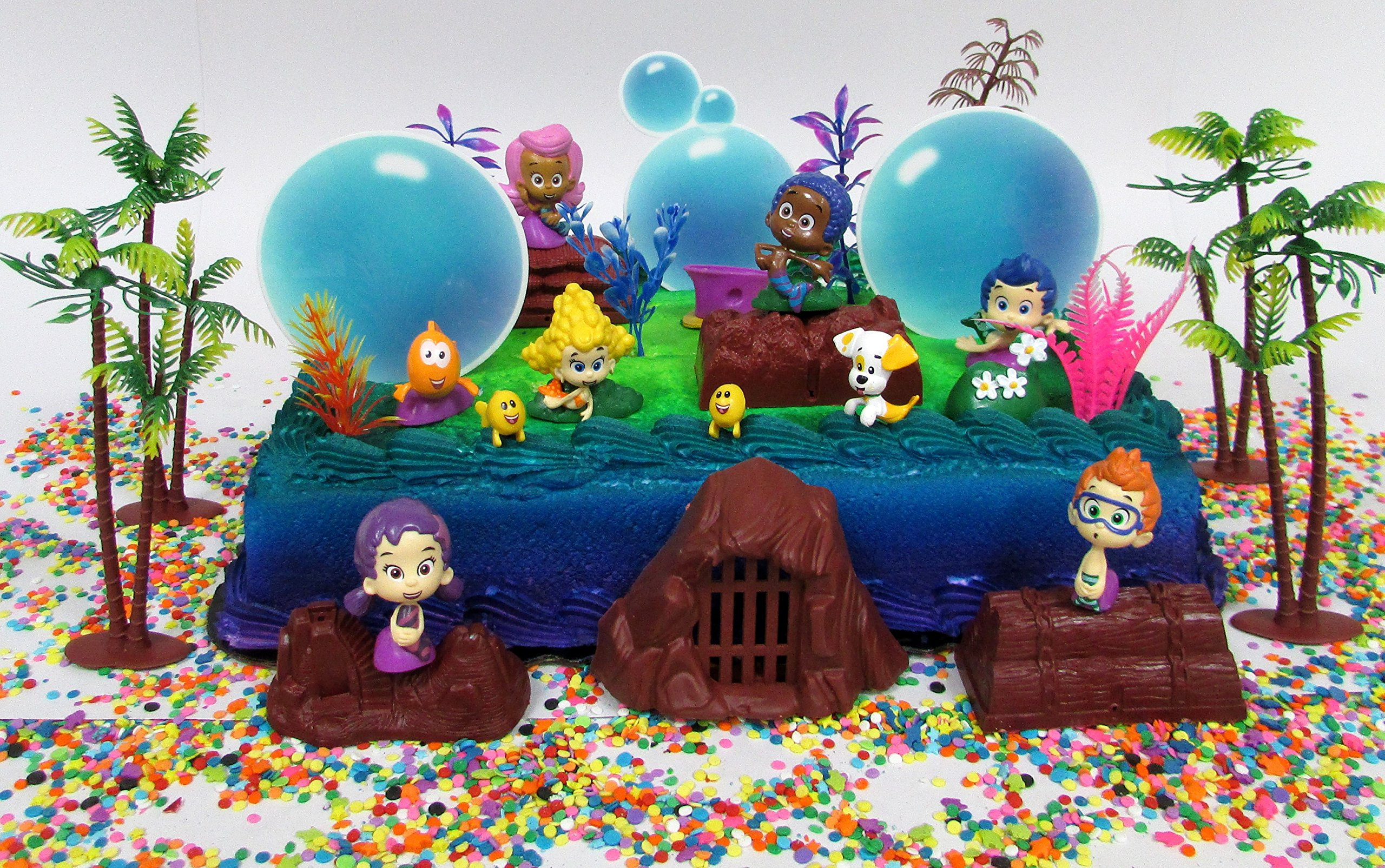 Fabulous Buy Bubble Guppies 20 Piece Birthday Cake Topper Set Featuring Gil Personalised Birthday Cards Veneteletsinfo