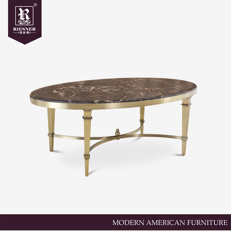 Hot sale dining room furniture Metal frame dining table with marble top