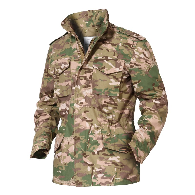 Men's tactical m65 jacket with themal inner