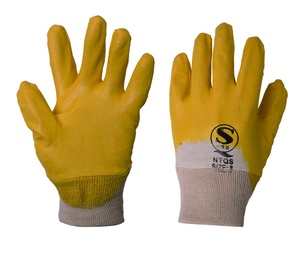 Lining Cotton fabric Working Gloves Nitrile Gloves 450145