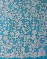 Customized professional tulle laser cut dress making material lace fabric