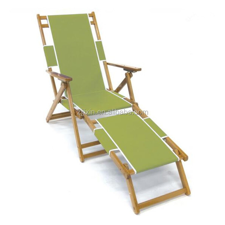 Classic leisure adirondack chaise lounge flat wooden beach for Adirondack chaise