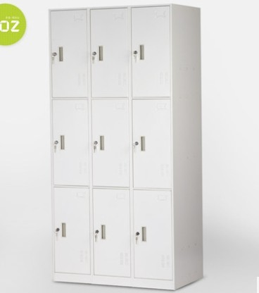 KD design cheap factory sale different color 9 door steel almirah durable locker