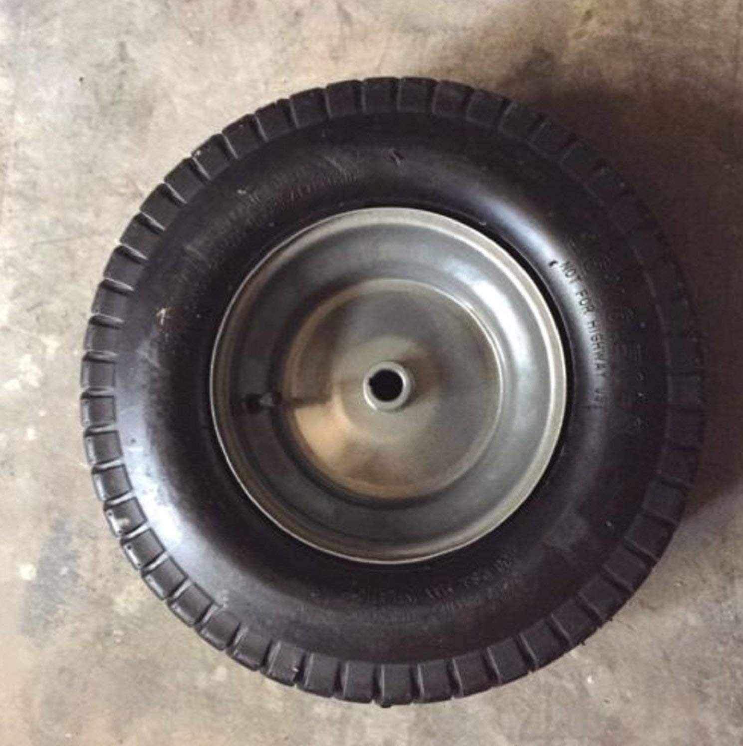 "USA Premium Store 16x6.50-8 2 Ply Tube Type 3/4"" ID 3"" Through Hub Keyed Mower Wheel Tire"
