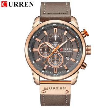 Top Brand Luxury CURREN 2018 Fashion Leather 끈 Quartz Men Watches 캐주얼 Date Business 남성 손목 8291