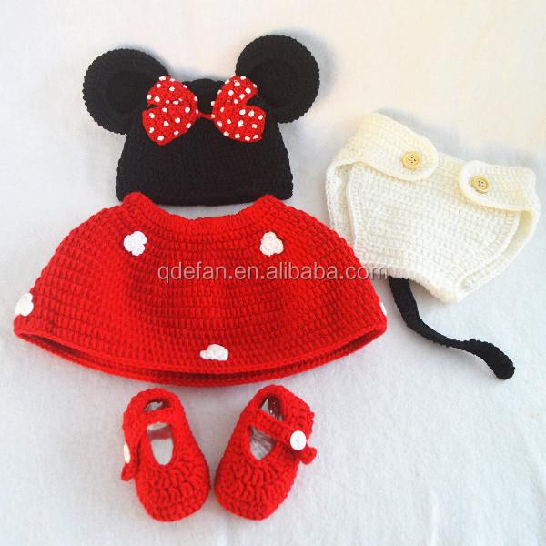 Magnífico Sombreros Del Ganchillo Patrones Recién Nacidos Ornamento ...