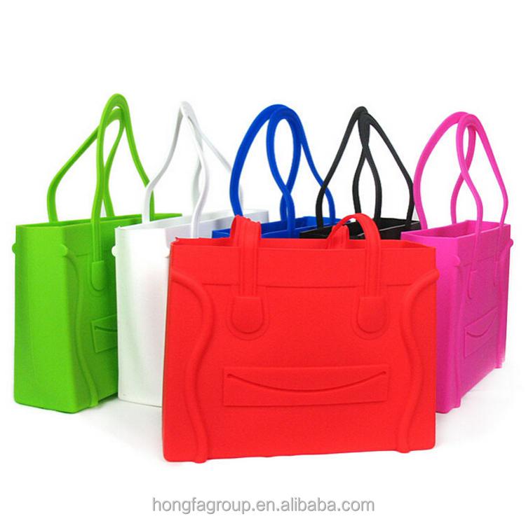 2017 Fashion Europe Rubber Silicone Handbags