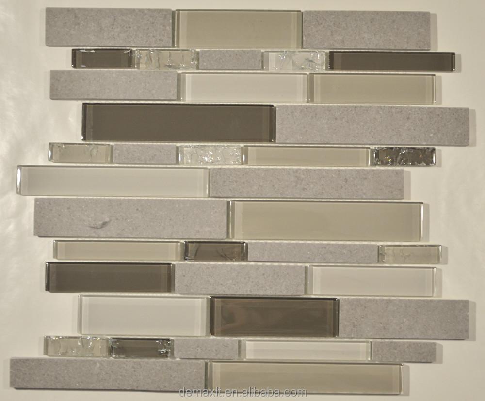 2015 nuovo mosaico di vetro per la cucina, bagno gml312-Mosaico-Id ...