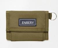 Bifold Nylon Wallet in Dark Green / Trifold Nylon Wallet