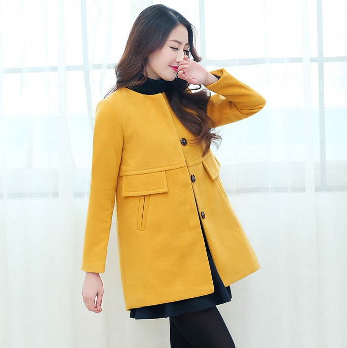 59d435805e20b Get Quotations · 2015HOT~Spring&autumn maternity clothes long-sleeve wool  jackets for pregnant women fashion Decorative pocket