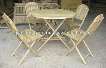 Bamboo Table Chair Set From Vietnam - Buy Bamboo Chair Product on ...