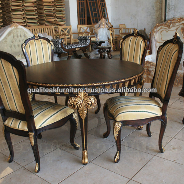 Juegos de mesa de comedor caoba antigua mesa de comedor Juego de comedor 4 sillas moderno