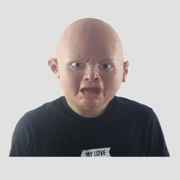 Halloween Creepy Cry Baby Full Head Face Latex Mask